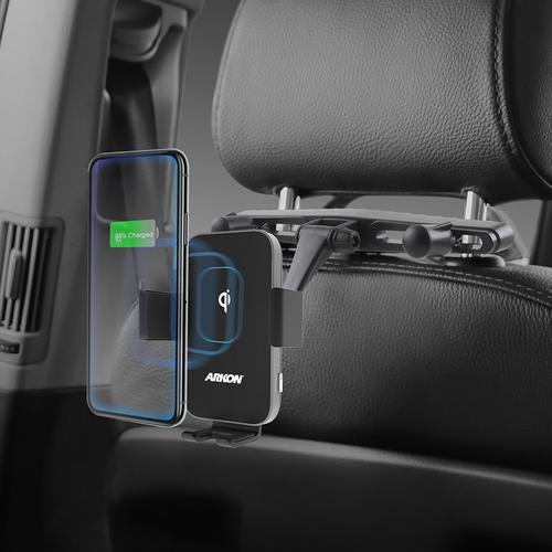 ARKON 아콘 무선N오토 차량용 헤드레스트 무선충전 핸드폰 거치대, 솔로형 AWC3-RSHM7