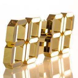 Lunaris 루나리스 24K 금도금 샴페인골드 3D LED 벽시계 LG전구 38cm