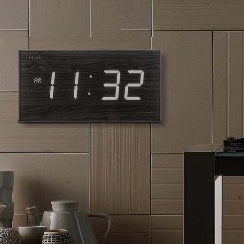 Lunaris 국산 루나리스 FM수신 클래식 LED 전자벽시계