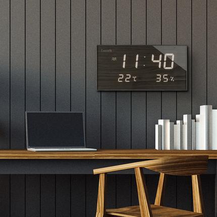 Lunaris 국산 루나리스 FM수신 온습도 LED 전자벽시계