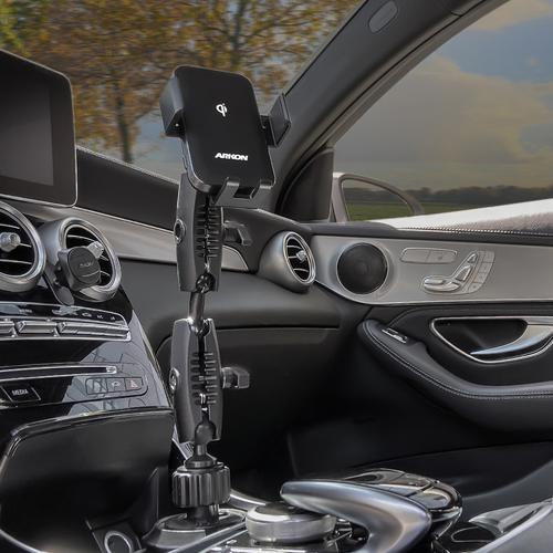ARKON 아콘 무선N오토 더블로버스트 차량용 컵홀더 무선충전 핸드폰 거치대 AWCRM2X323