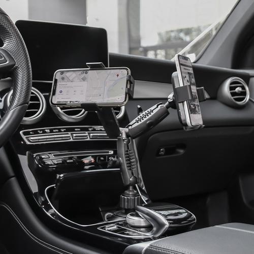 ARKON 아콘 무선N오토 로버스트 듀얼폰 차량용 컵홀더 무선충전 듀얼 핸드폰 거치대 AWC2RM323
