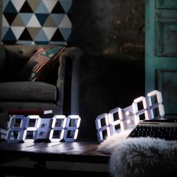 Lunaris  루나리스 3D LED 인테리어 벽시계 LG전구 38cm 화이트