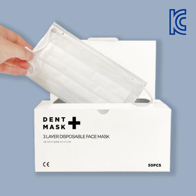 GAZE 게이즈 일회용 덴탈 마스크 50매 화이트 [코로나19 예방][국내 KC인증]