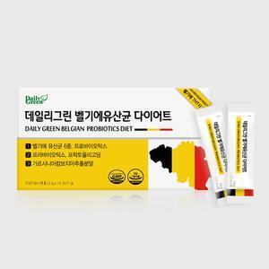 Daily Green 데일리그린 벨기에유산균 다이어트 14포 1박스