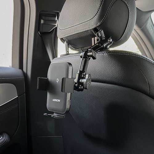 아콘 무선N오토 멀티앵글 차량용 헤드레스트 무선충전 핸드폰 거치대, 복합형 AWC3-RSHM6
