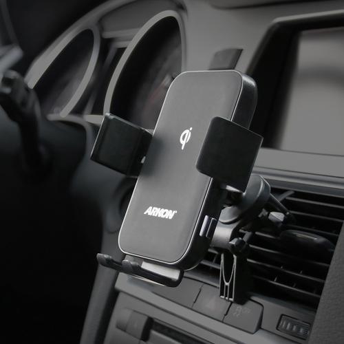 아콘 무선N오토 차량용 송풍구 무선충전 핸드폰 거치대 AWC357