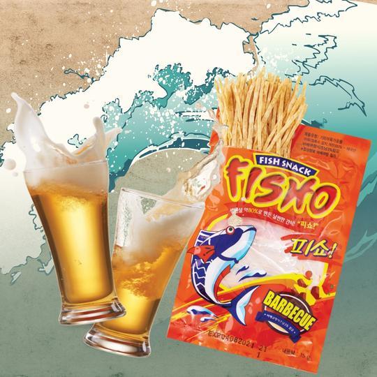FISHO 피쇼 생선살 80% 날씬한 간식 어포 (바베큐맛) 30G