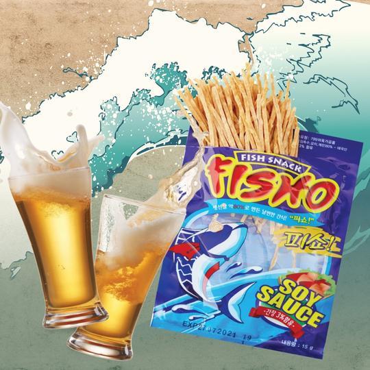 FISHO 피쇼 생선살 80% 날씬한 간식 어포 (간장맛) 15G  6봉 세트